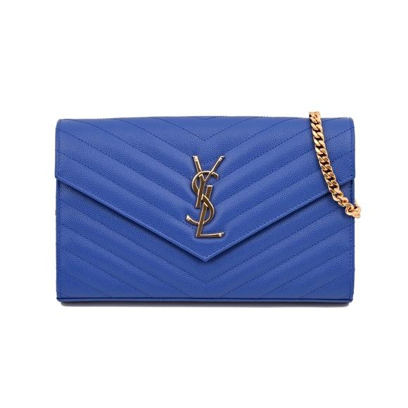861be281dca5 New Saint Laurent Monogram Envelope Matelasse Bag